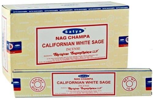 Kadzidełka Biała Szałwia Californian White Sage Satya 15gx12szt.