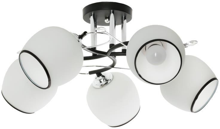 Lampex Asumi 5 747/5 plafon lampa sufitowa nowoczesna srebrna 5x60W E27 54cm