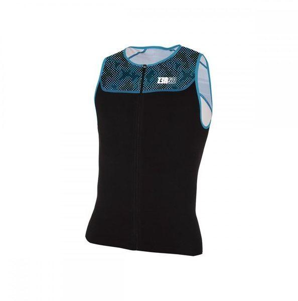 ZEROD Koszulka triathlonowa START TRISINGLET 2020 czarno-niebieska
