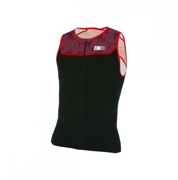 ZEROD Koszulka triathlonowa START TRISINGLET 2020 czarno-czerwona