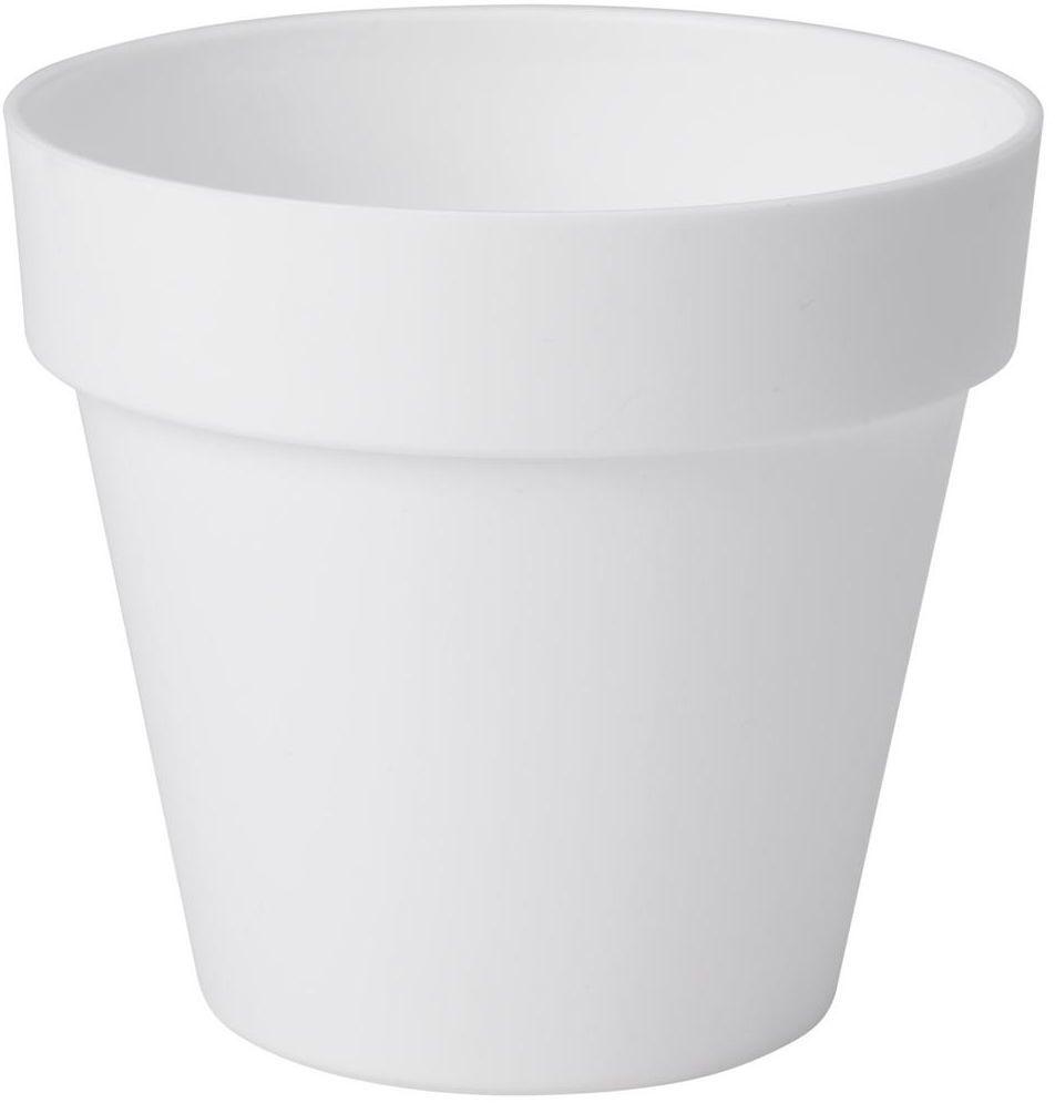Doniczka plastikowa 14 cm biała IBIZA