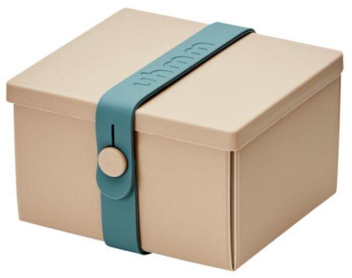 No.02 dziecięcy lunchbox z opaską Uhmm - mocca / petrol - mocca/petrol