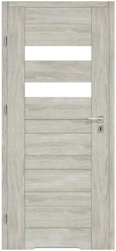 Skrzydło drzwiowe z podcięciem wentylacyjnym Davos Dąb silver 80 Lewe Artens
