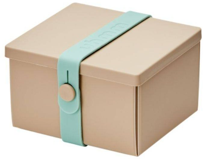 No.02 lunchbox z opaską dla dzieci Uhmm - mocca / mint