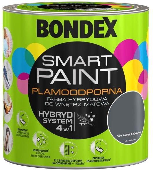 Farba hybrydowa Bondex Smart Paint gdy światła zgasną 2,5 l