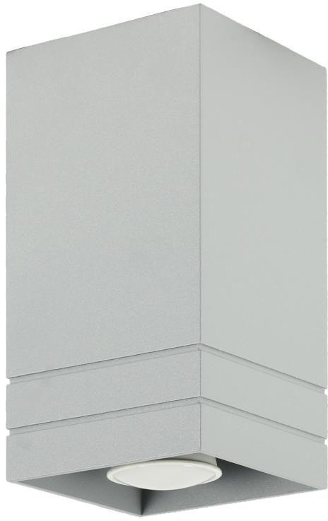 Lampex Neron A 753/A POP plafon lampa sufitowa spot nowoczesna popielata prostokątna 1xGU10 20cm
