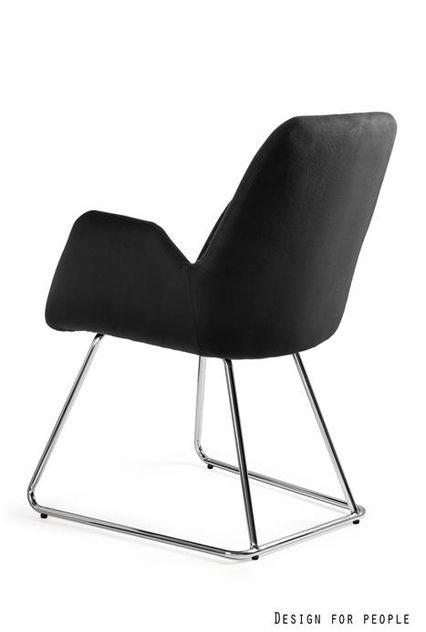 UNIQUE Krzesło CITY - czarny