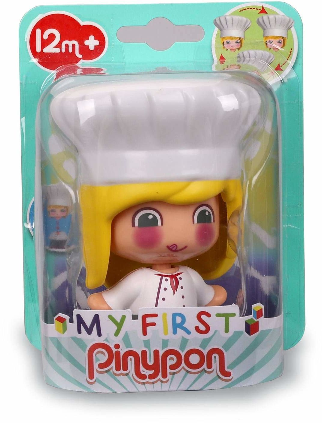 My First Pinypon - Figurka Chef figure, educational toy for preschool children, learn professions, recommended from 1 do 3 years (Famosa 700016400)