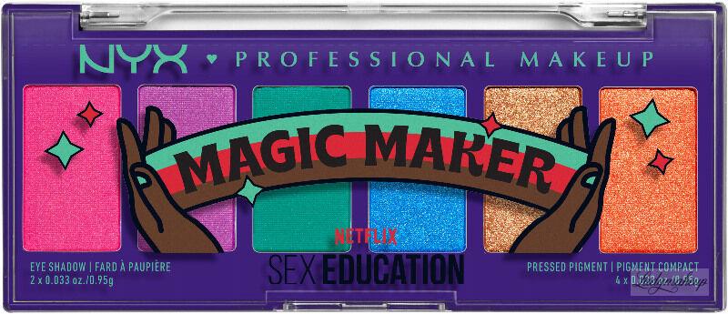 NYX Professional Makeup - Sex Education - Magic Maker - Color Palette - EYE SHADOW & PRESSED PIGMENT - Paleta 6 cieni i pigmentów do powiek