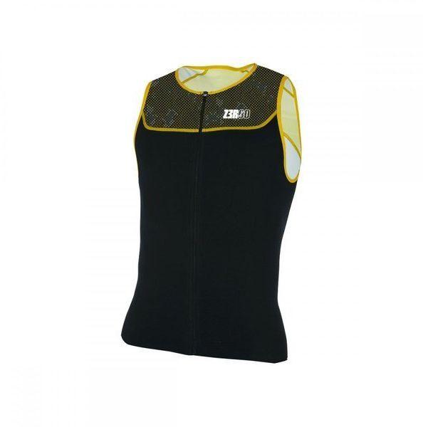 ZEROD Koszulka triathlonowa START TRISINGLET 2020 czarno-żółta