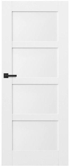 Drzwi bezprzylgowe pełne Connemara 80 prawe kredowo-białe