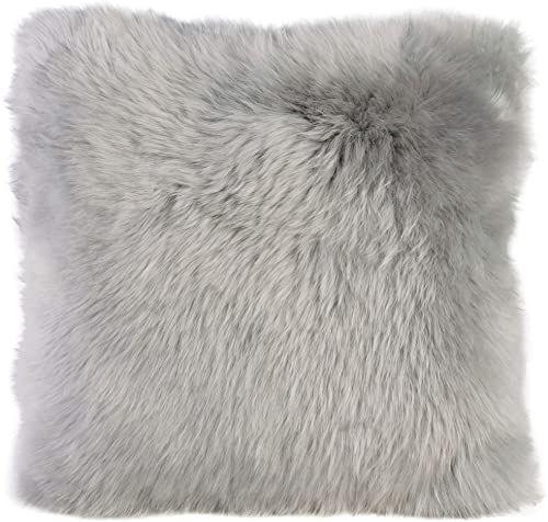 Gözze poszewka na poduszkę z owczej skóry, 40 x 40 cm, srebrna, 40149-90-4141