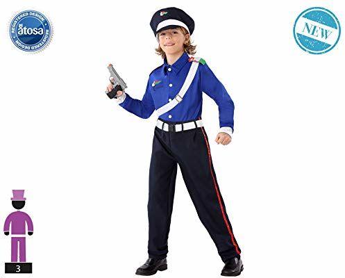 Atosa -61646 kostium policjanta 5-6, chłopcy, 61646, czarny, od 5 do 6 lat
