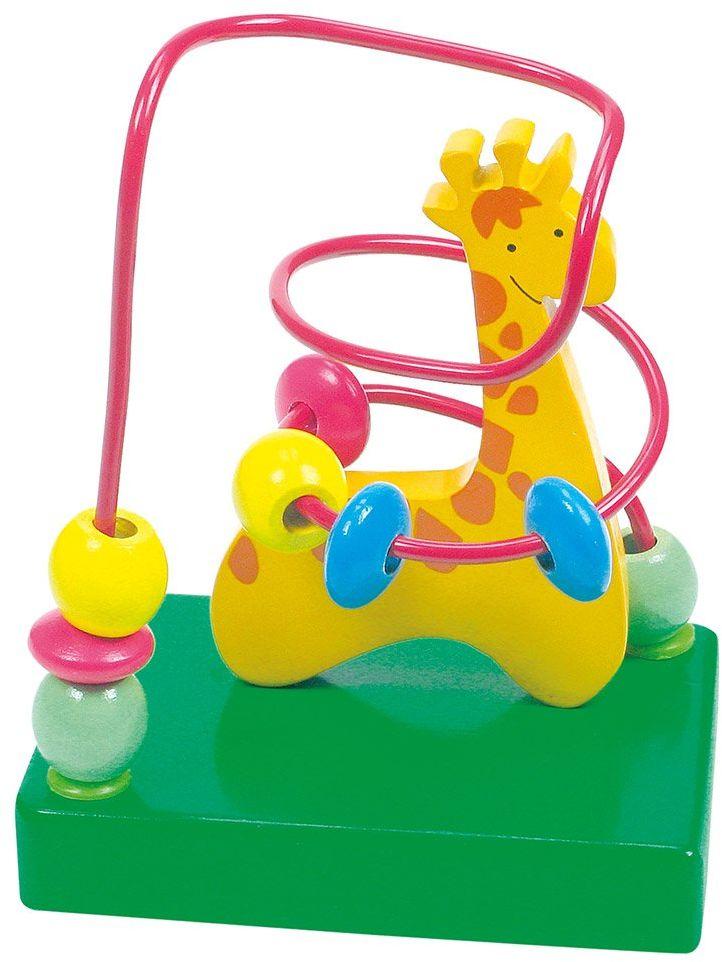 Bino 84160 10 x 7 x 12,5 cm koralik labirynt żyrafa zabawka (wielokolorowa)