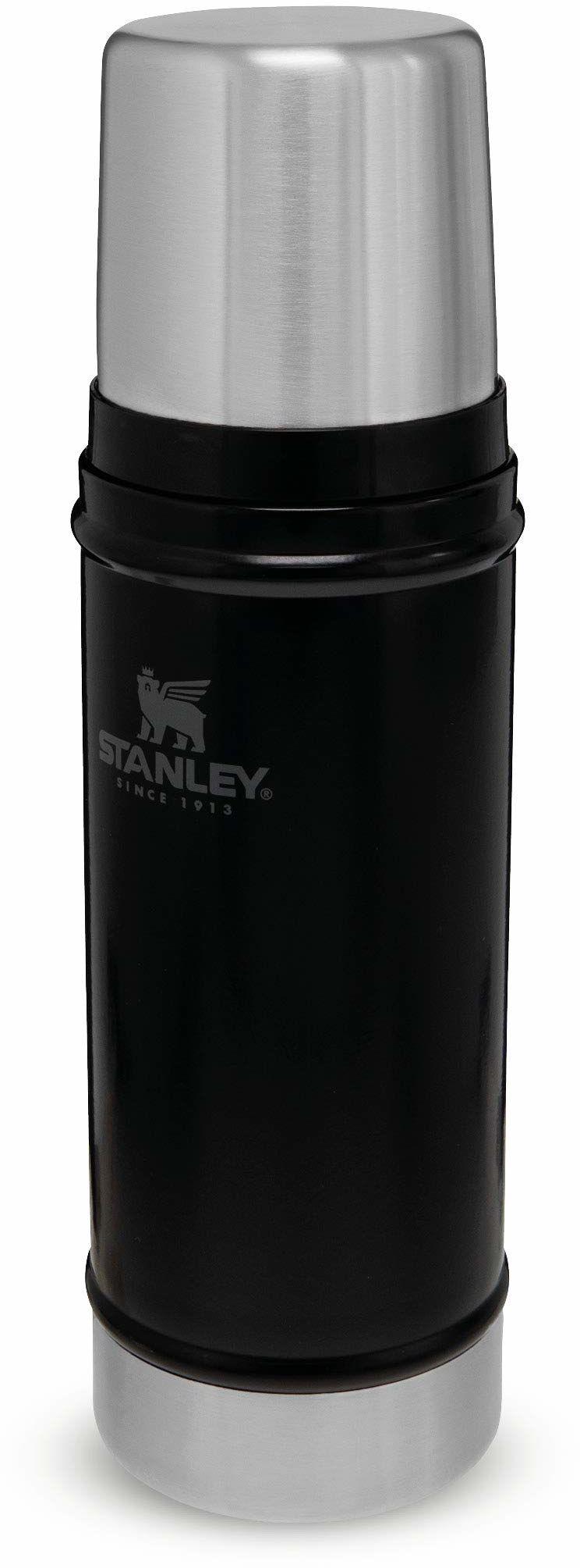 Stanley Classic Legendary Bottle 0.47L / 16OZ Matte Black  Termos ze Stali Nierdzewnej BEZ BPA - Utrzymuje zimno lub ciepło przez 15 godzin - Do Mycia w Zmywarce