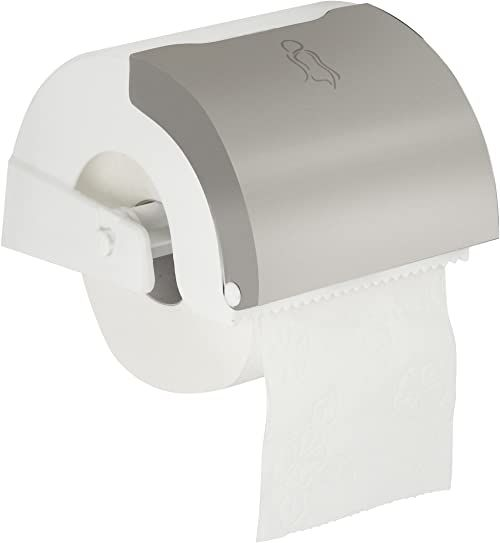 Fackelmann uchwyt na papier toaletowy i tampon, biały, 15 x 12 x 10 x 10 cm