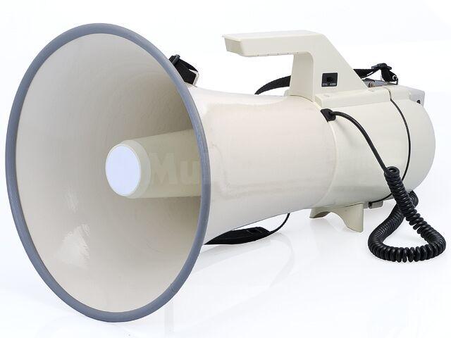 Megafon 45W z mikrofonem na elastycznym przewodzie