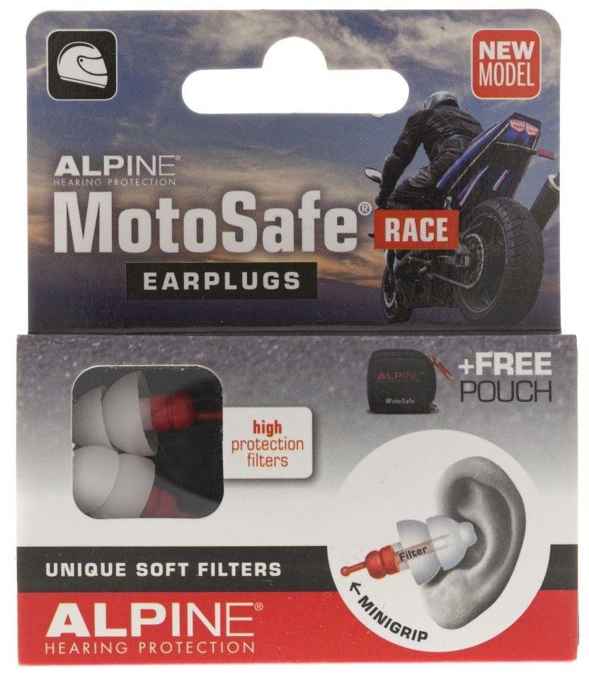 Alpine MotoSafe Race zatyczki do uszu dla motocyklistów
