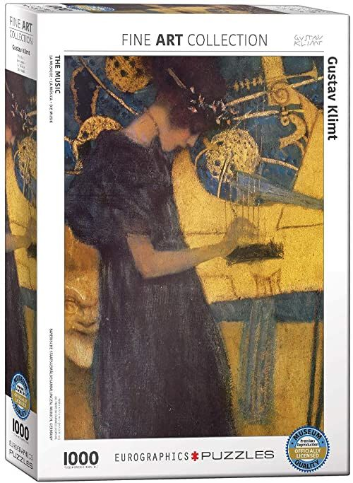 Eurographics Muzyka autorstwa Gustav Klimt Puzzle (1000 sztuk)