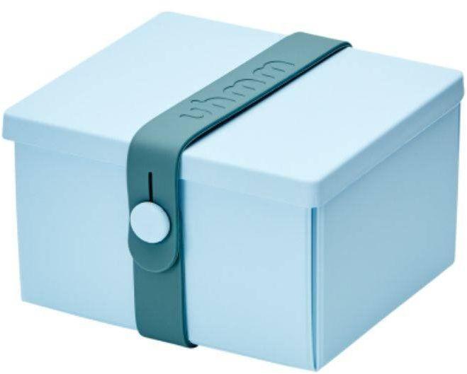 No.02 lunchbox składany z opaską Uhmm - light blue / petrol - light blue/petrol