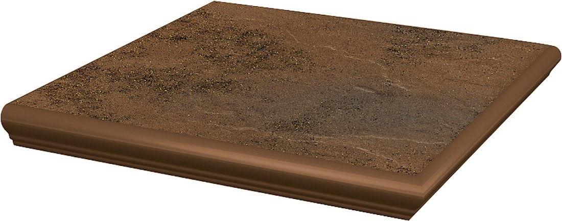 SEMIR BEIGE stopnica z kapinosem narożna strukturalna 33x33x1,1