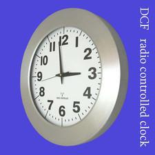 Zegar aluminiowy szeroka ramka radiowy DCF #1