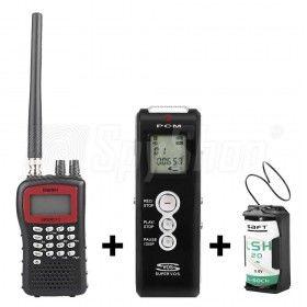 Zestaw do podsłuchu z nagrywaniem WSR-1 - pluskwa, skaner i dyktafon