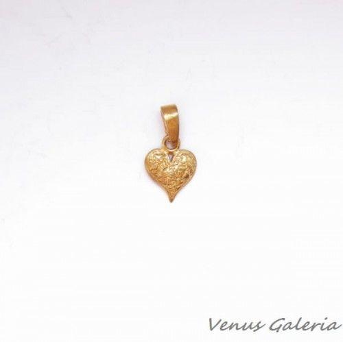 Zawieszka srebrna- Mini serduszko złote