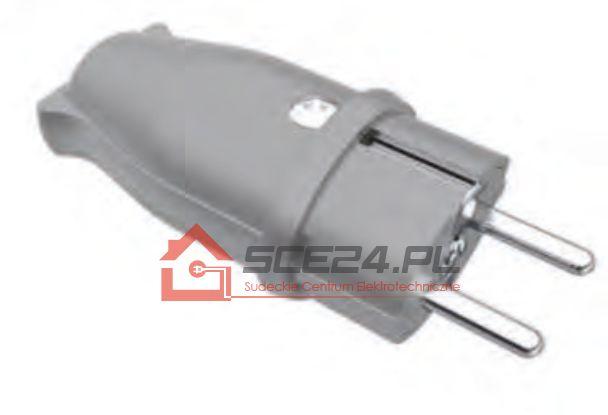Wtyczka gumowa 230V IP44 SZARA