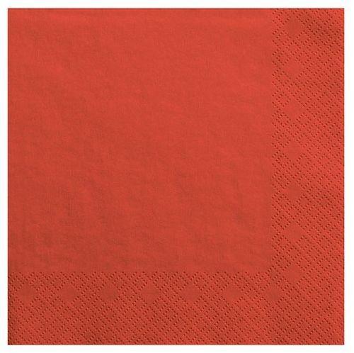 Serwetki czerwone 33cm 20 sztuk SP33-1-007