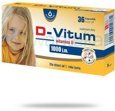 D-Vitum 1000j.m. witamina D dla dzieci po 1 roku życia 36 kapsułek twist-off