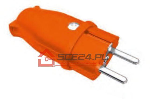Wtyczka gumowa 230V IP44 POMARAŃCZOWA