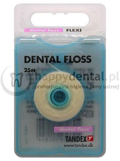 TANDEX Dental Floss 25m - woskowana, miętowa nić dentystyczna
