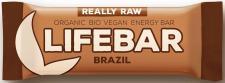 Baton Z ORZECHAMI BRAZYLIJSKIMI RAW bezglutenowy BIO 47 g Lifefood