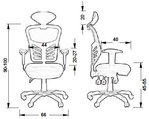 HG-0001H fotel gabinetowy - różne kolory
