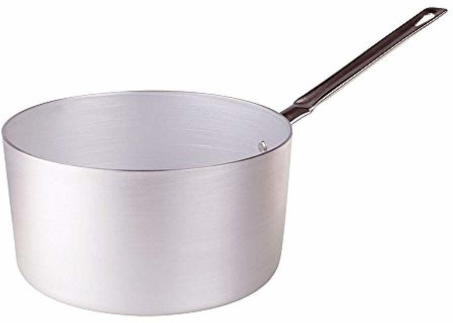 High Garnki Agnelli, z aluminium, z uchwytem ze stali nierdzewnej, srebrny, 5,5 litra