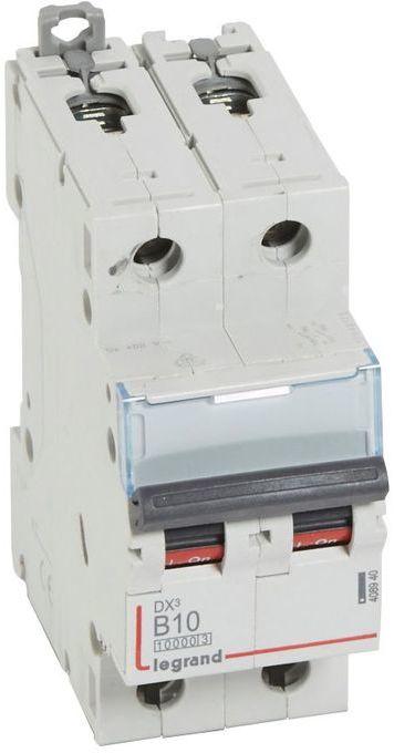 Wyłącznik nadprądowy 2P B 10A 10kA S312 DX3 408940