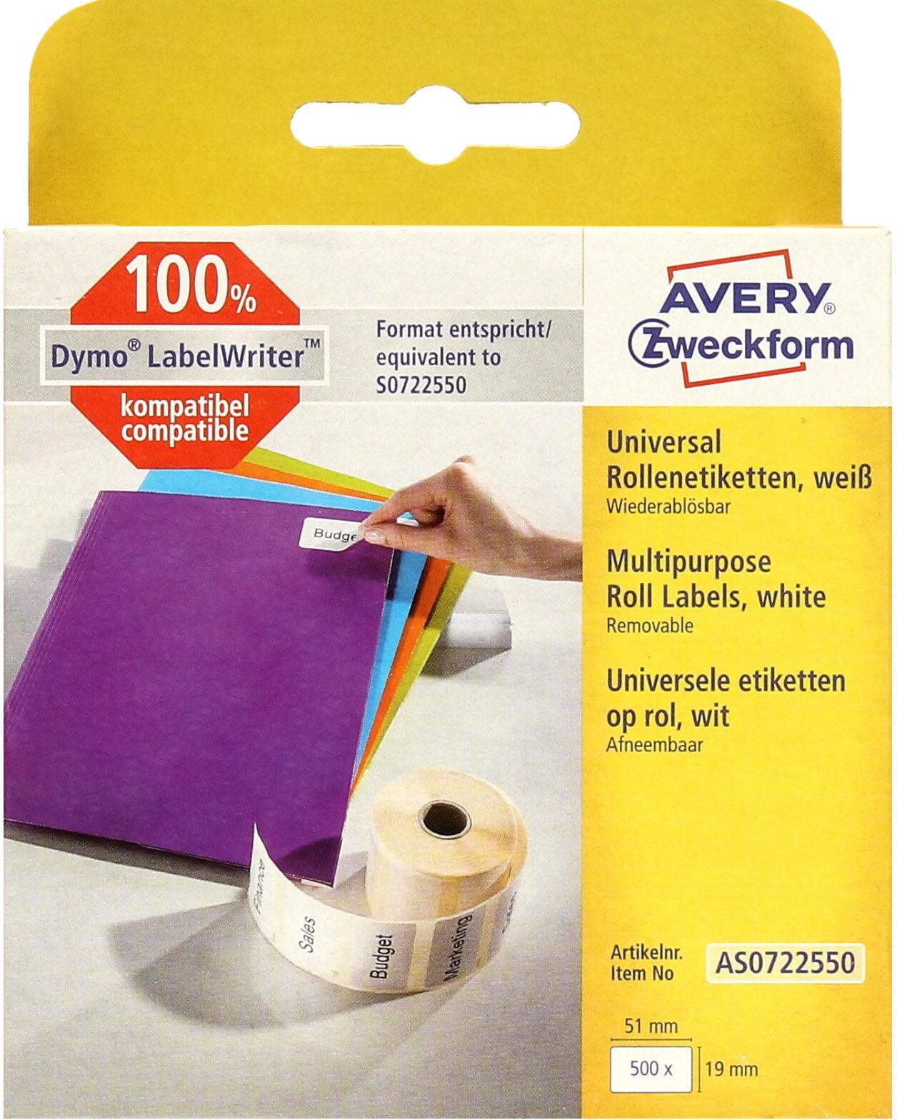 Etykiety uniwersalne 19x51 termiczne Zweckform (500)