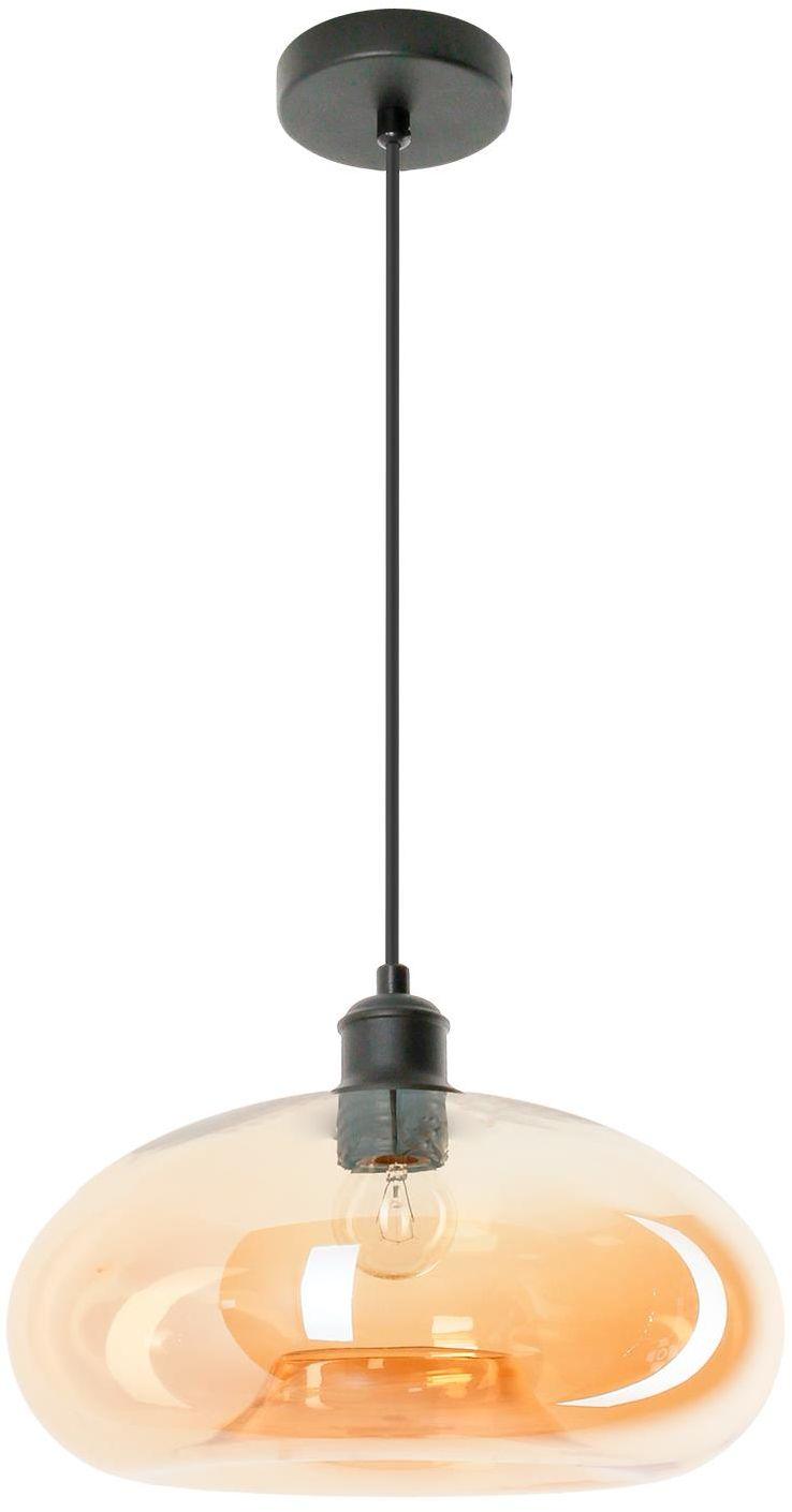 Lampex Adonis 767/1 lampa wisząca nowoczesna szklany klosz metalowe zawiesie miedziane E27 1x60W 28cm