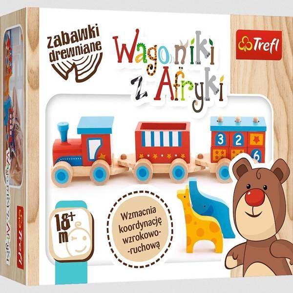 Zabawka drewniana - Wagoniki z Afryki TREFL