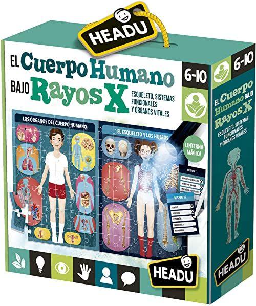 Headu ES28153 ciało pod promieniami X. Gra edukacyjna dla dzieci do nauki ludzkiego ciała dla chłopców i dziewczynek w wieku od 6 do 10 lat