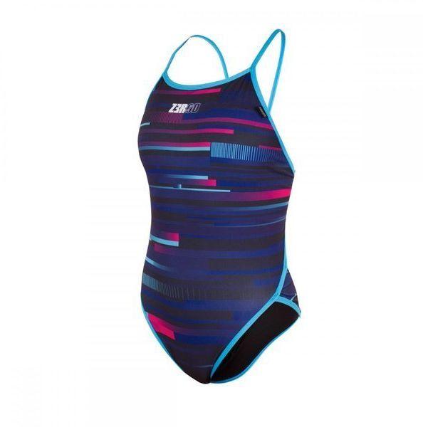 ZEROD Strój kąpielowy damski jednoczęściowy ONE PIECE REVOLUTION niebieski