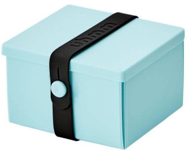 No.02 lunchbox na przekąski Uhmm - mint green / black - mint green/black