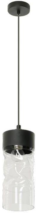 Lampex Rupert 1 784/1 lampa wisząca nowoczesna czarna szklany klosz o nieregularnym kształcie E14 1x60W 13cm