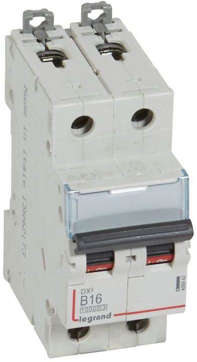 Wyłącznik nadprądowy 2P B 16A 10kA S312 DX3 408942