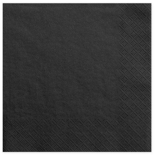 Serwetki czarne 33cm 20 szt. SP33-1-010
