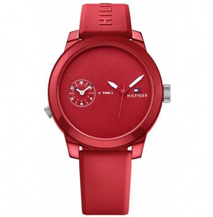 Zegarek męski Tommy Hilfiger Denim czerwony - 1791323
