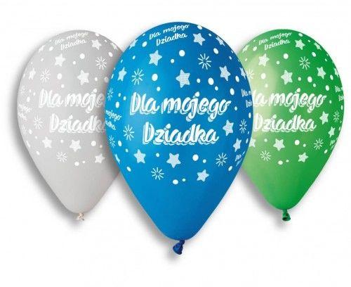 Balony Premium na Dzień Dziadka, Dla Mojego Dziadka, 5 szt.