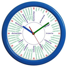 Zegar naścienny duży liczydło #4