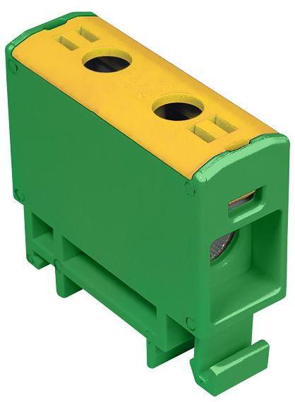 Złączka szynowa przelotowa 2-przewodowa 2,5-16mm2 żółto-zielona WLZ35P/16/z 48.518
